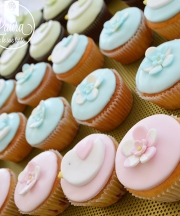 cupcake battesimo fiori