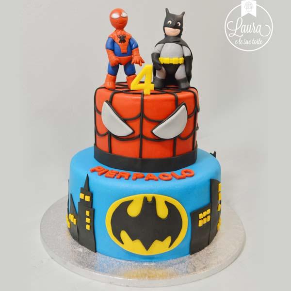 torta spiderman batman