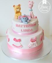 torta animaletti rosa