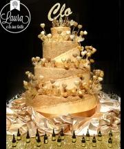 torta oro diciottesimo