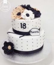 torta bianco nero